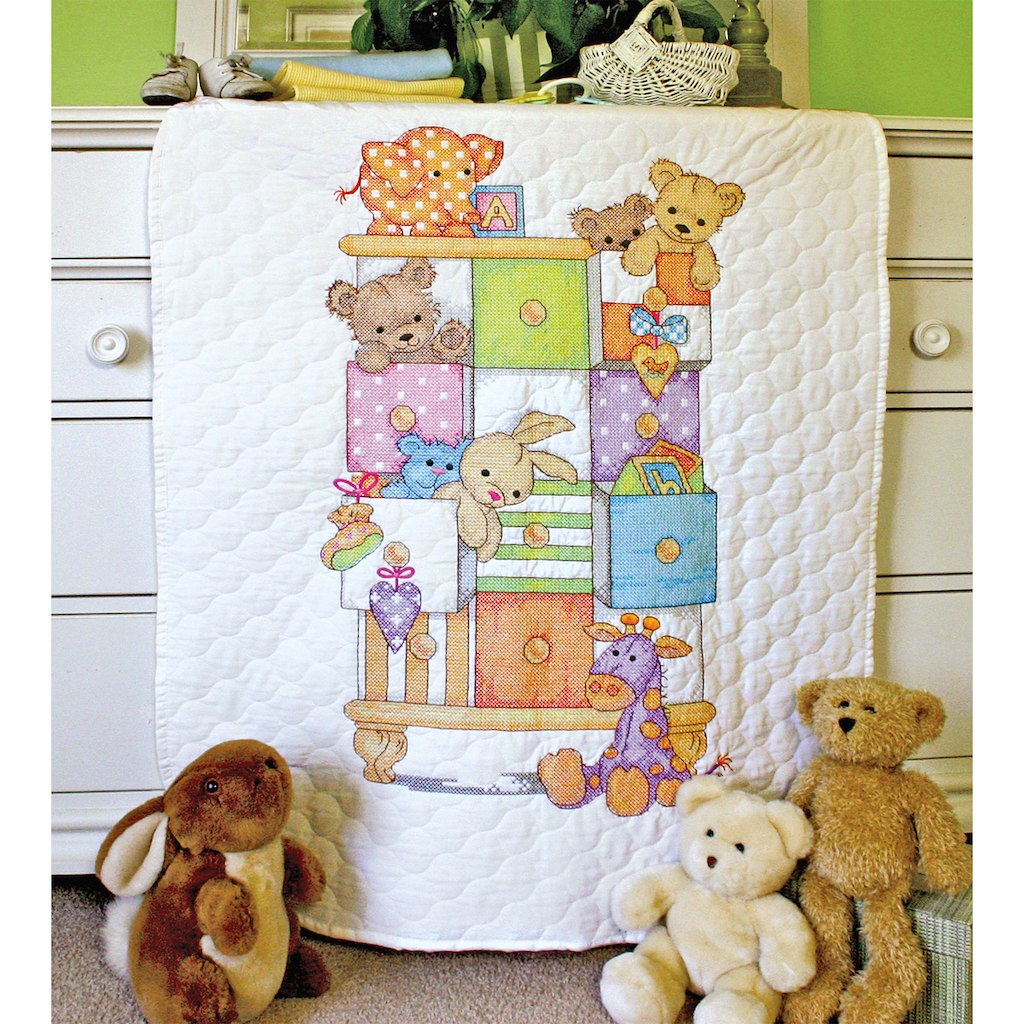 Picture of: Stamped Cross Stitch Baby Quilts