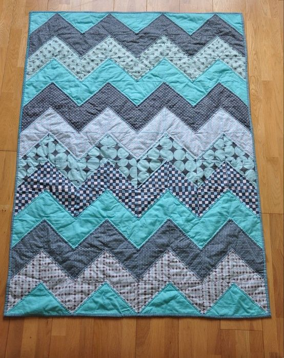 Stripe Fat Quarter Baby Quilt