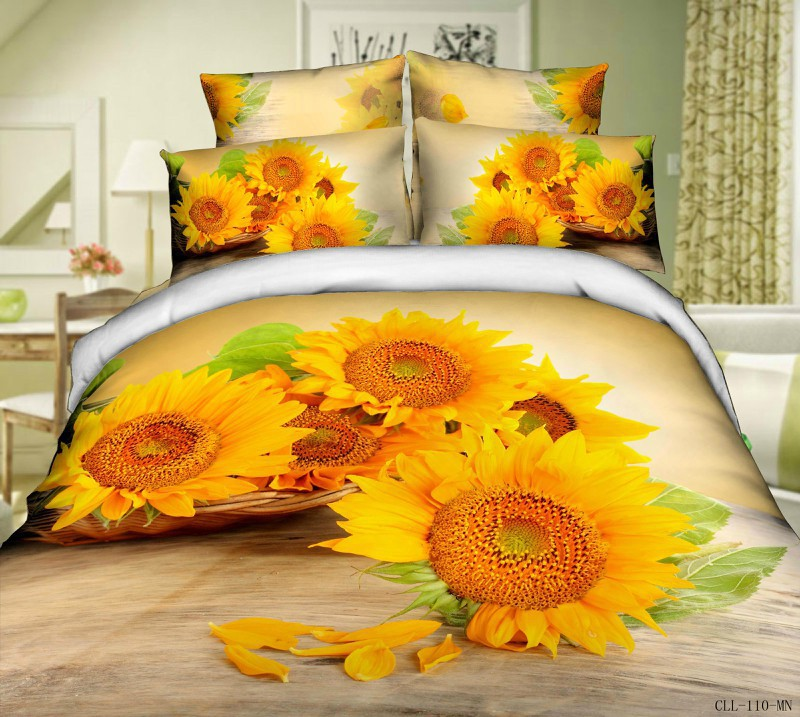 Picture of: Sunflower Quilt Pattern 3D