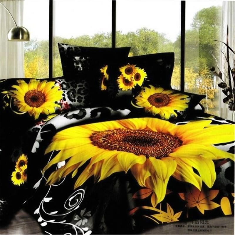 Picture of: Sunflower Quilt Pattern Black