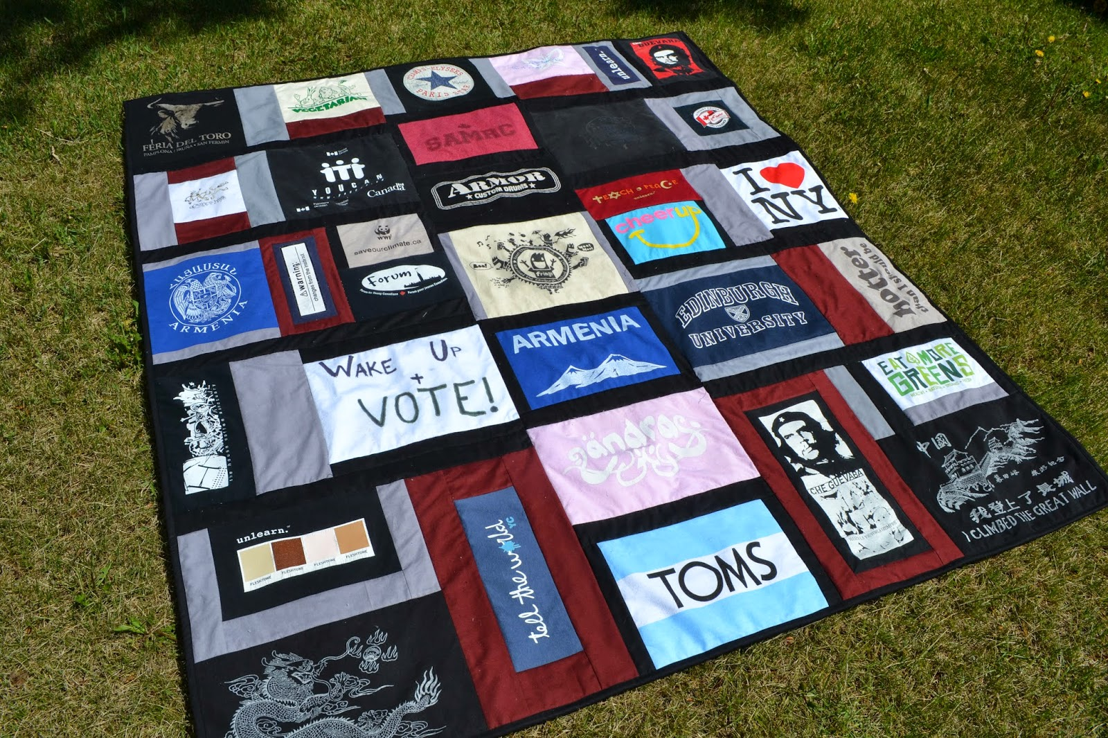 T Shirt Quilt Pattern Dark
