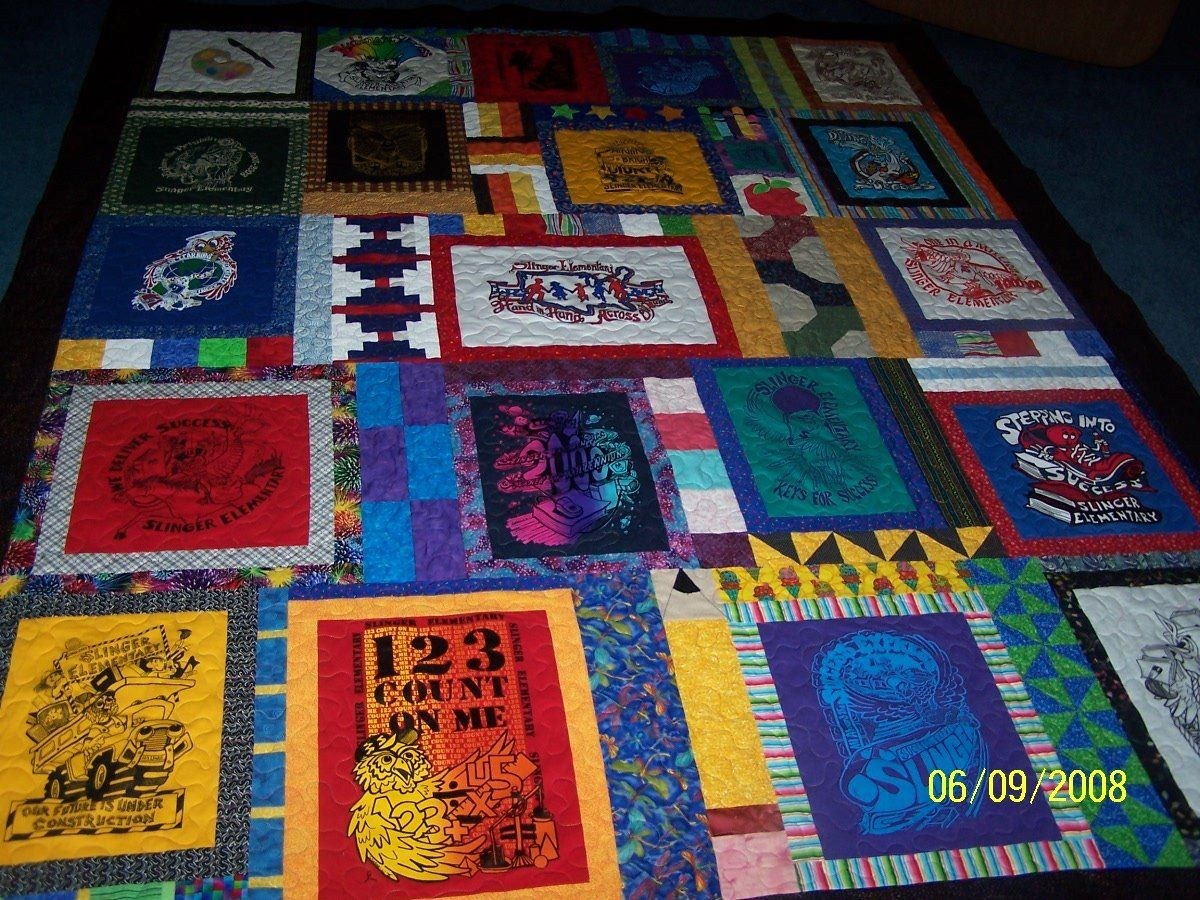 Image of: T Shirt Quilt Pattern Ideas