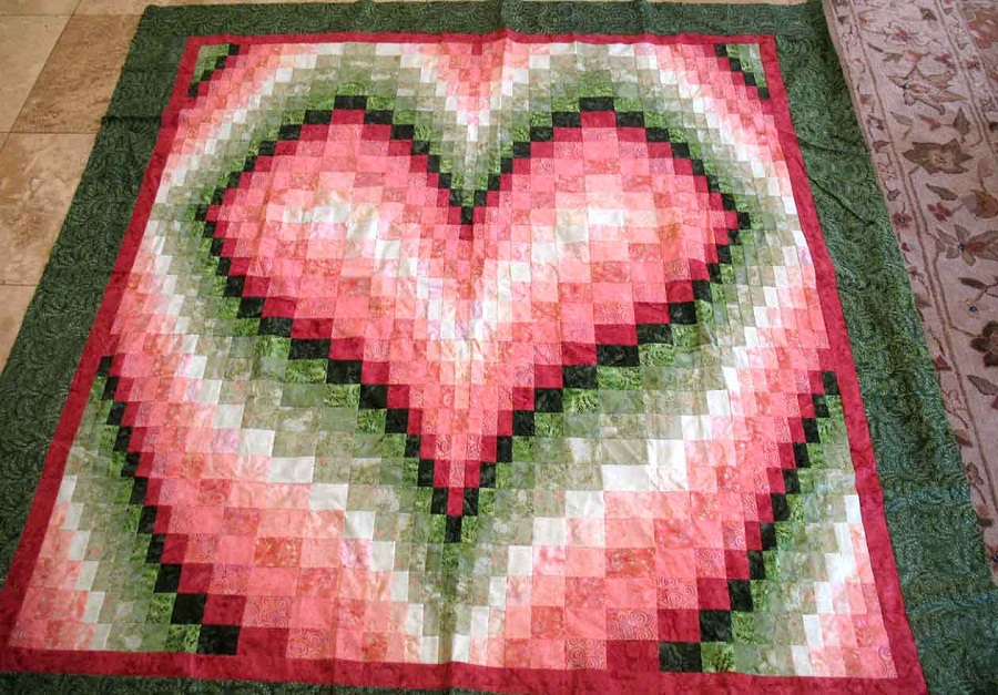 Image of: Top Bargello Quilt Pattern