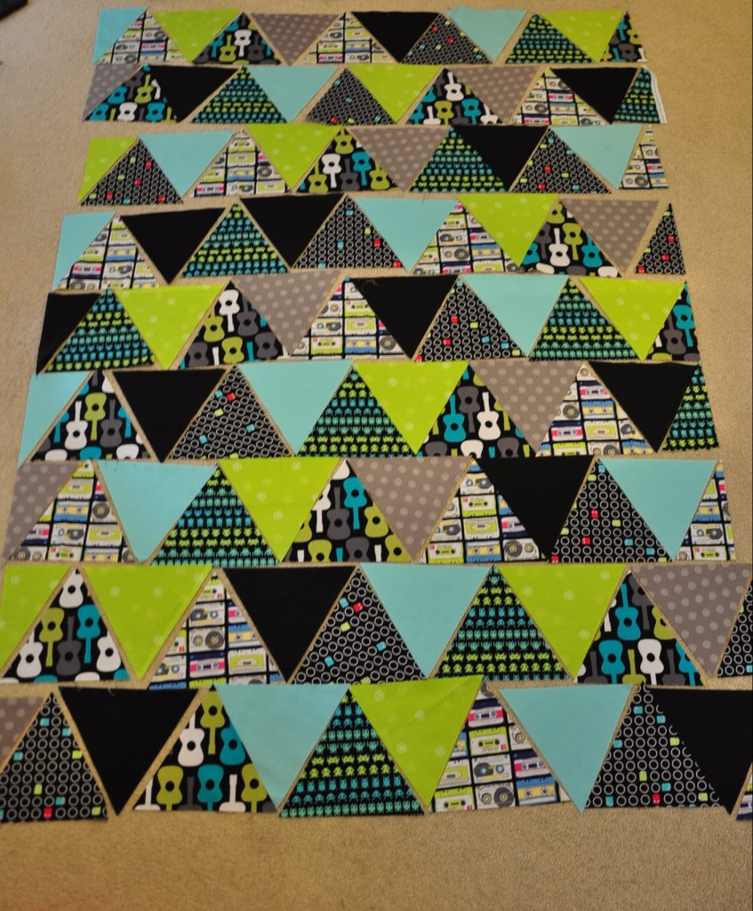 Image of: Triangle Quilt Patterns Blocks