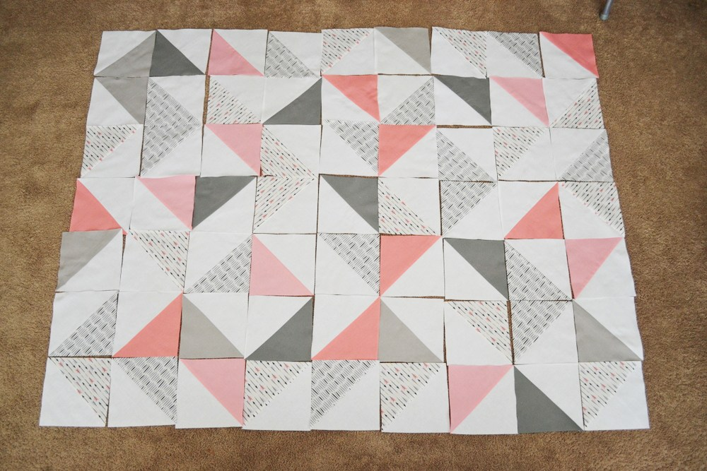 Image of: Triangle Quilt Patterns Totorial