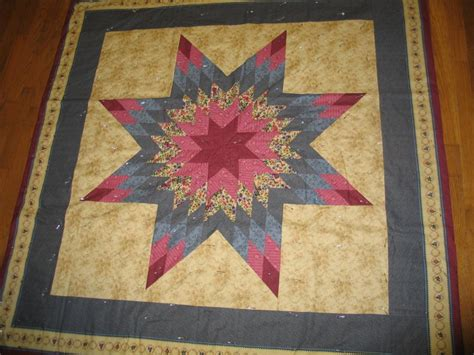 Image of: Unique Lone Star Quilt Pattern