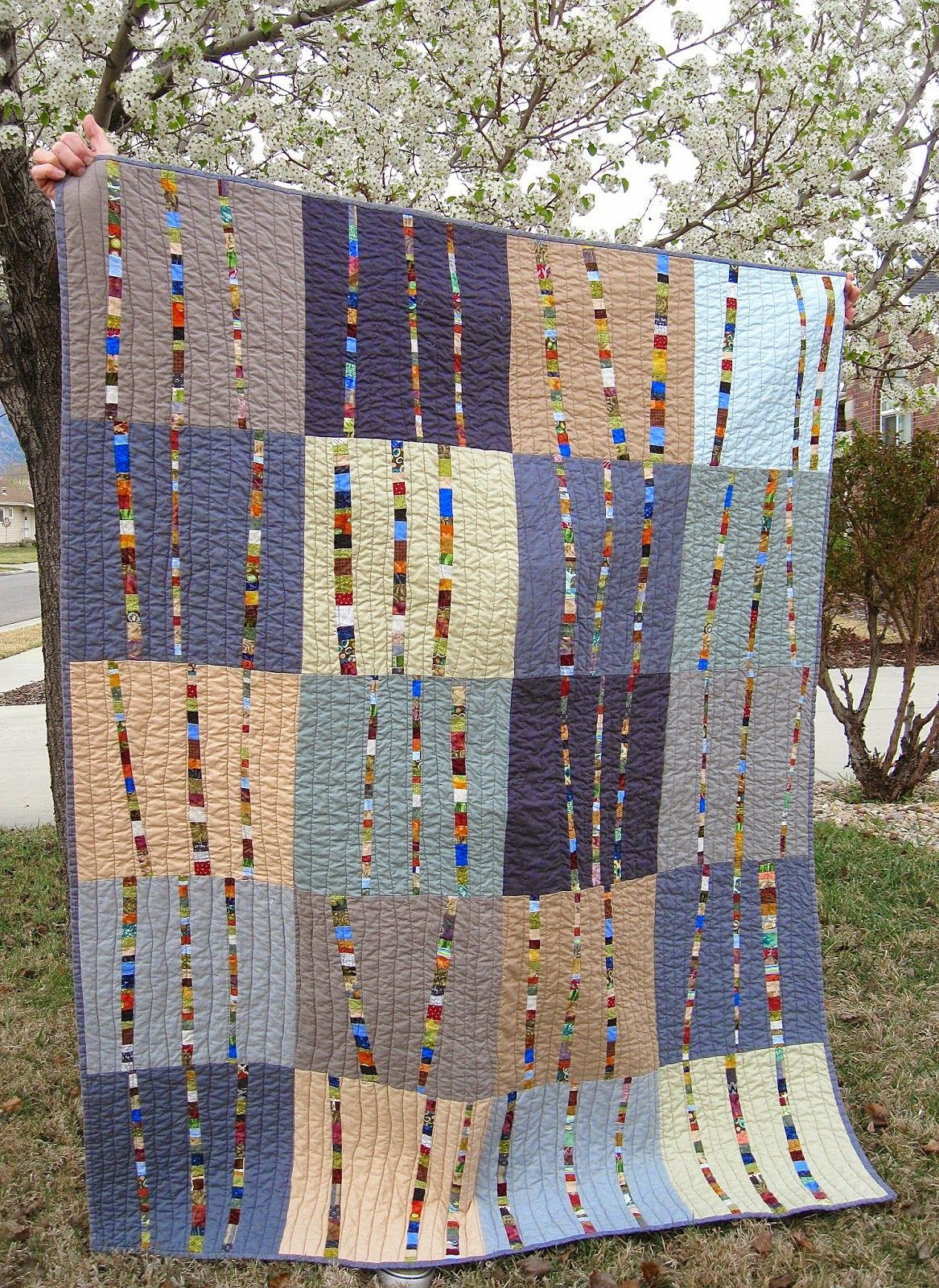 Image of: Unique Tree Quilt Patterns