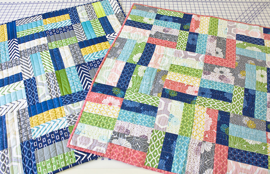 Use Jelly Roll Baby Quilt