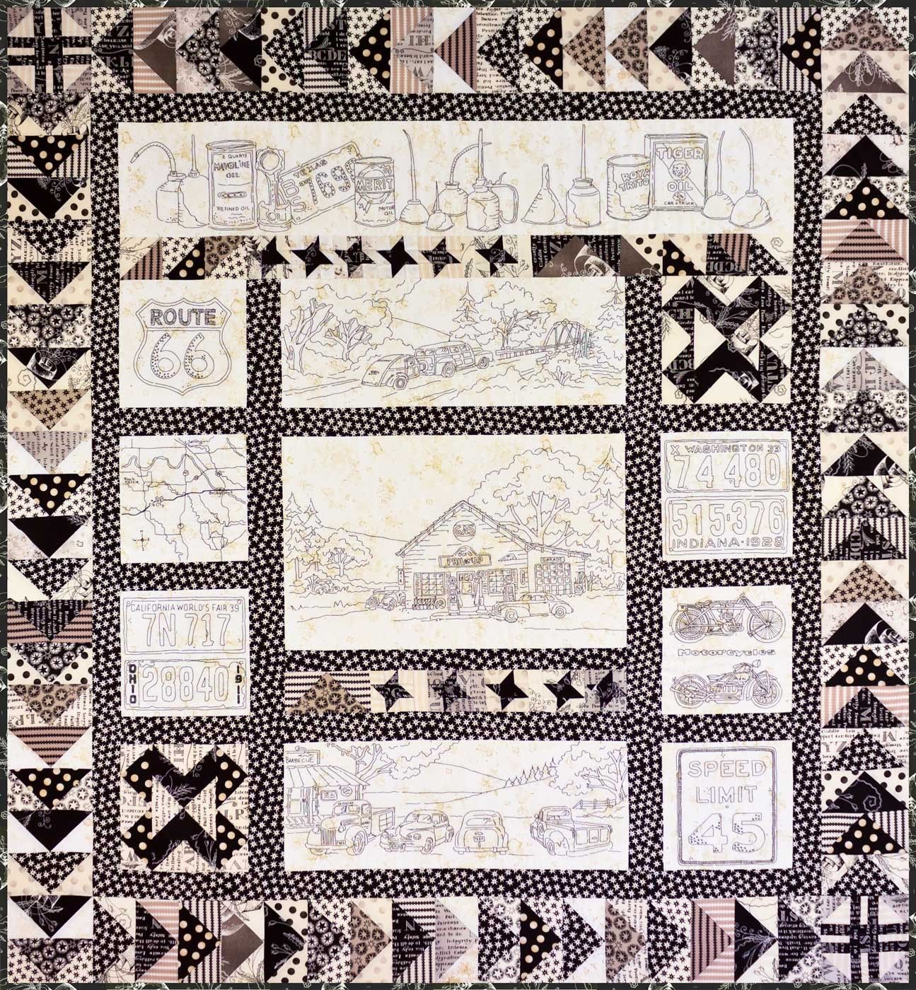 Vintage Embroidery Quilt Patterns