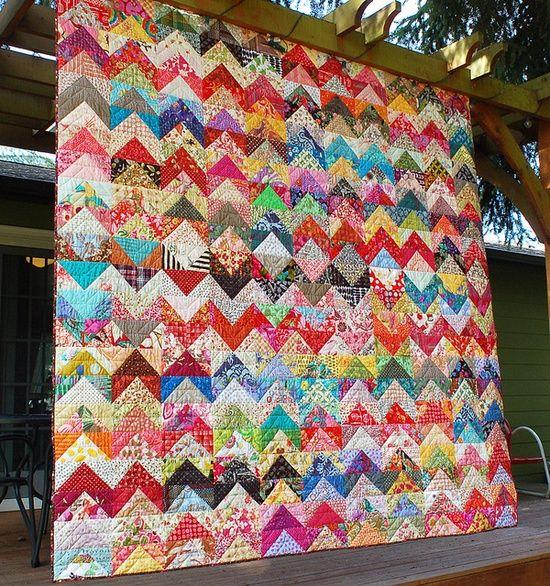 Wide Scrap Quilt Patterns