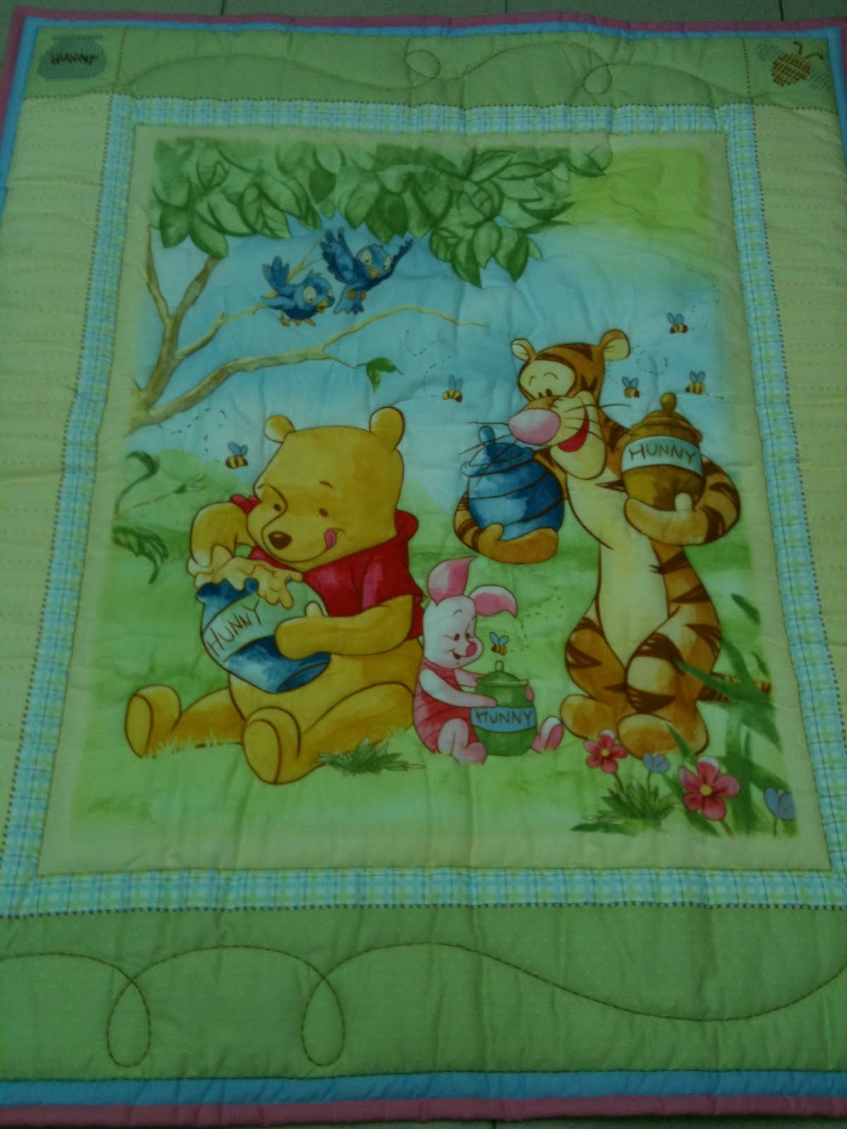 Winnie The Pooh Baby Quilt Panels