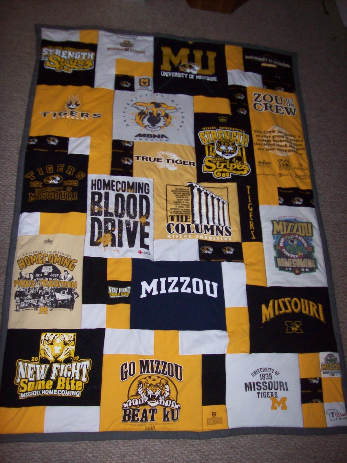 Yellow T Shirt Quilt Pattern