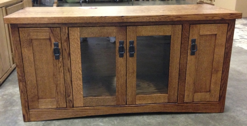 Image of: Used Tv Armoire With Glass Door