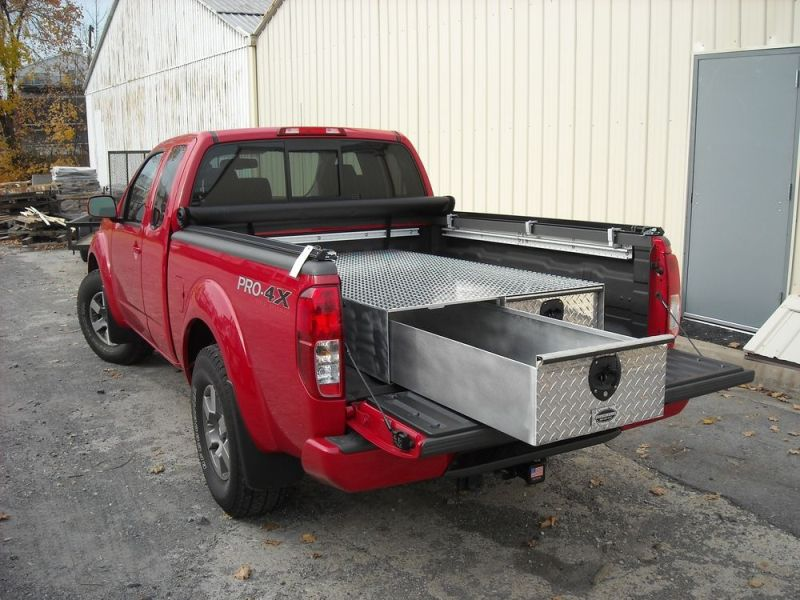Image of: 48 X 48 Truck Bed Slide Out Storage
