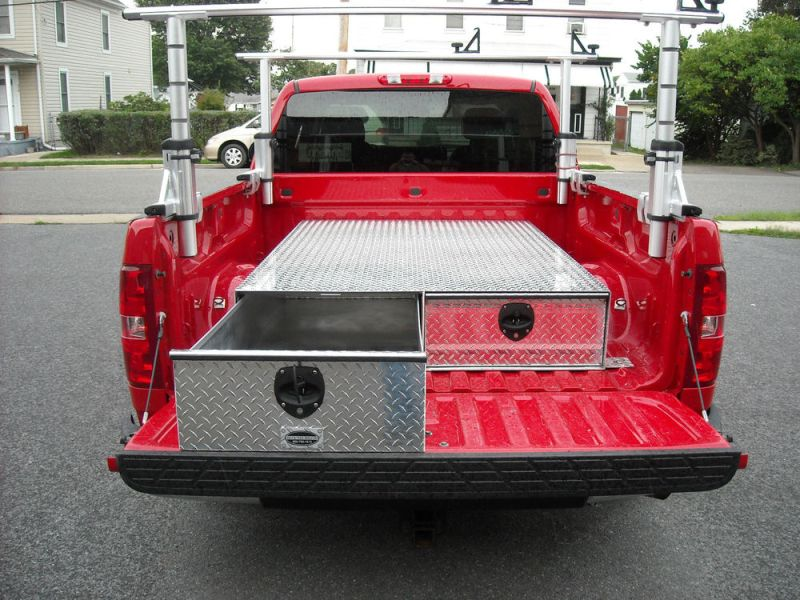Image of: 48 X 48 X 12 Truck Bed Slide Out Storage