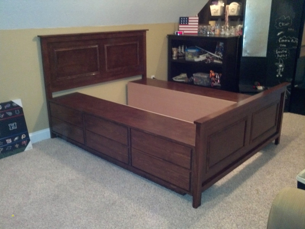 Image of: Adjustable DIY Queen Bed Frame with Storage