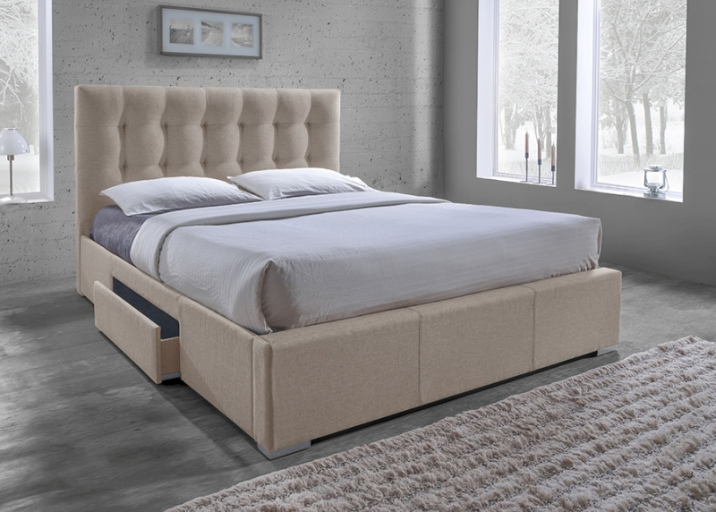 Image of: Affordable King Size Upholstered Bed With Storage