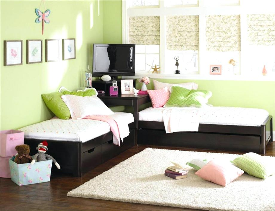 Amazing Corner Twin Beds with Storage