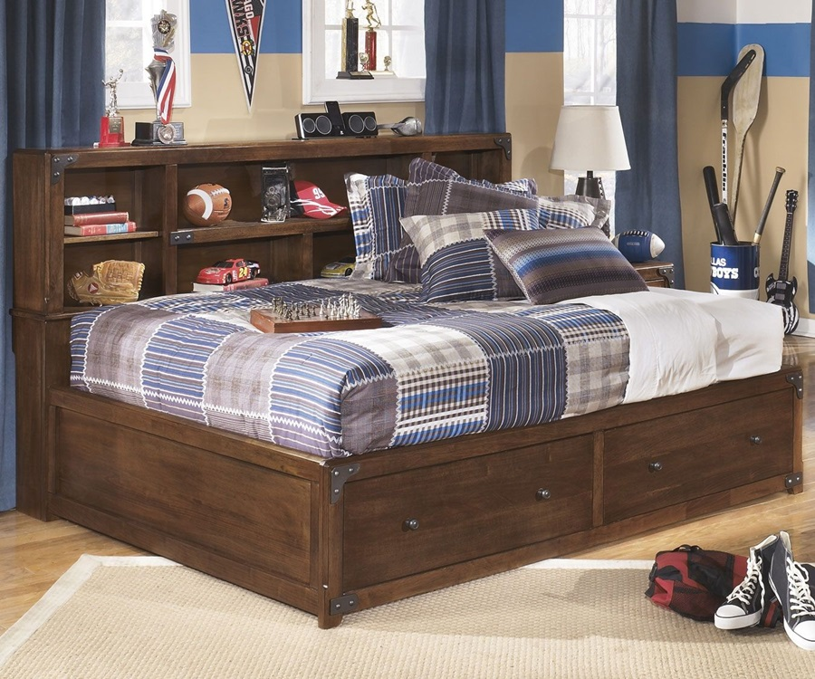 Image of: Amazing Full Size Captains Bed With Storage