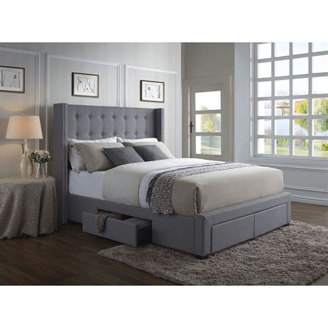 Picture of: Amazing Grey Storage Bed