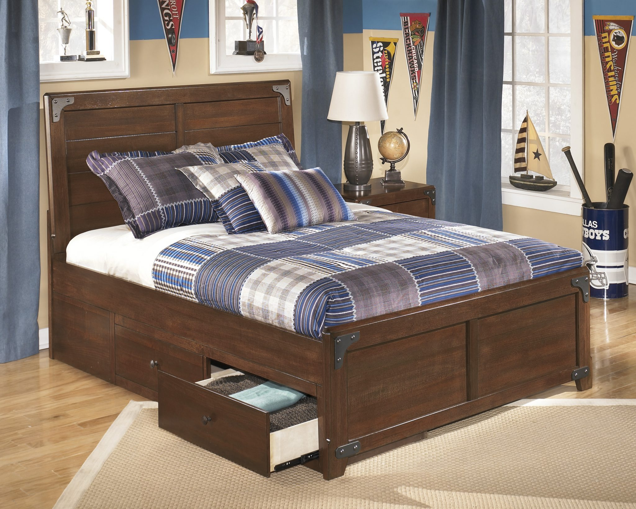 Image of: Ashley Furniture Bed With Storage King