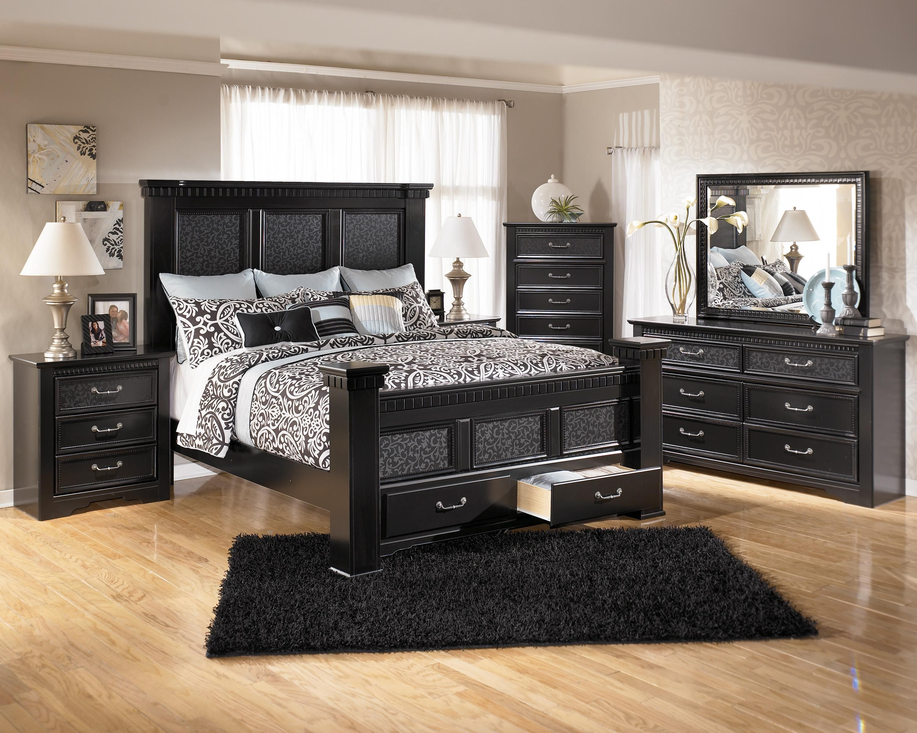 Image of: Ashley Furniture Bed With Storage Pictures