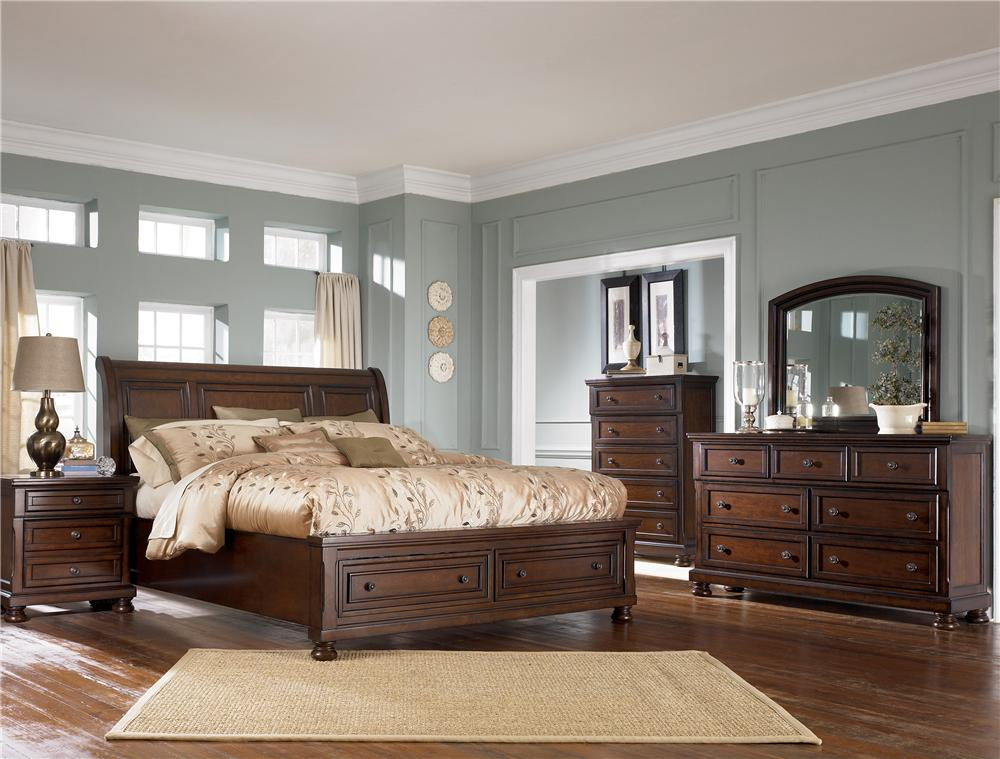 Image of: Ashley Furniture Bed With Storage Style