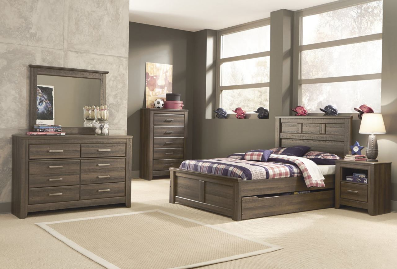 Ashley Furniture Bed with Storage Antique