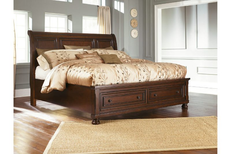 Image of: Ashley Furniture Queen Storage Bed