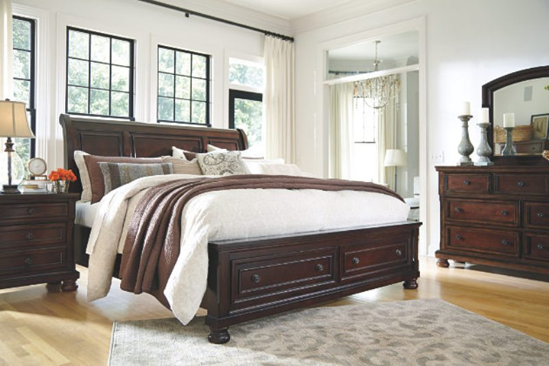 Image of: Ashley Furniture Sleigh Bed With Storage