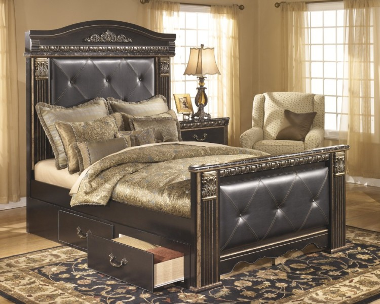 Image of: Ashley Furniture Storage Bed