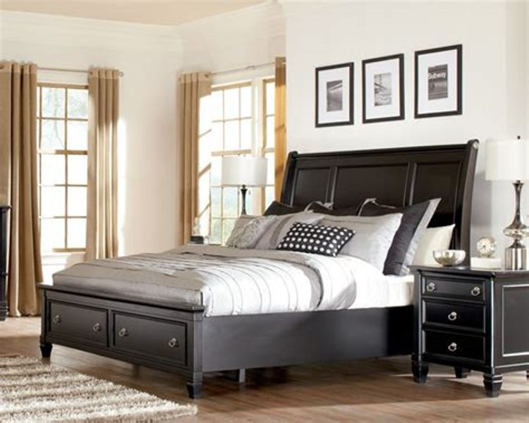 Image of: Ashley Kira Queen Storage Bed