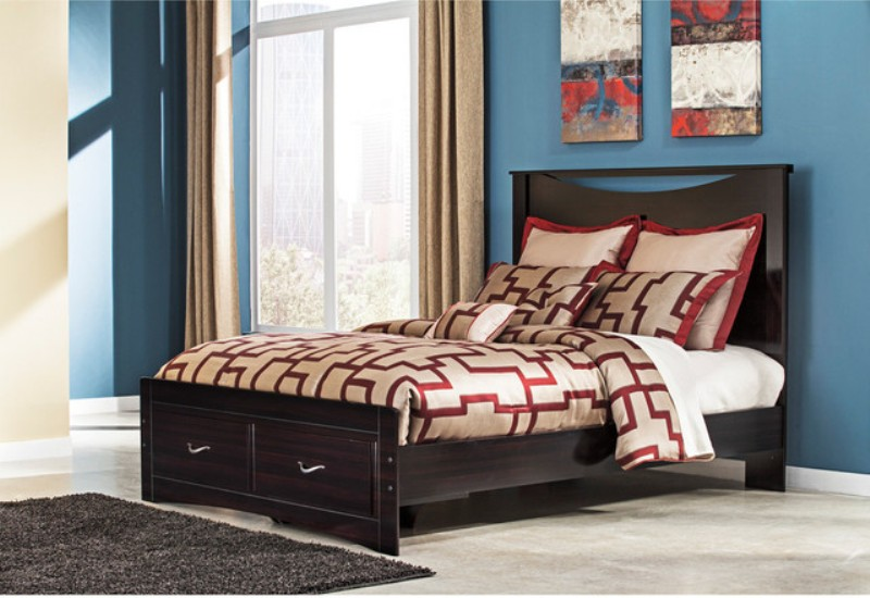 Image of: Ashley Queen Storage Bed