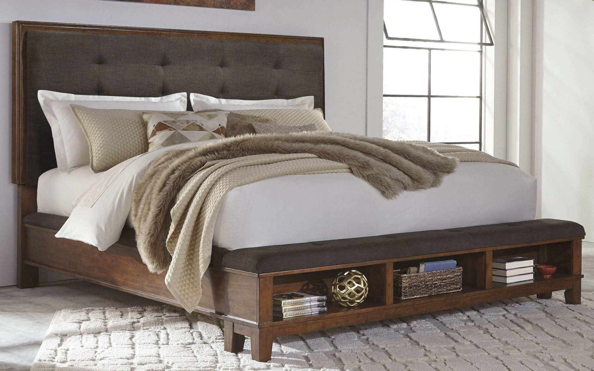 Image of: Ashley Storage Bed Bedroom