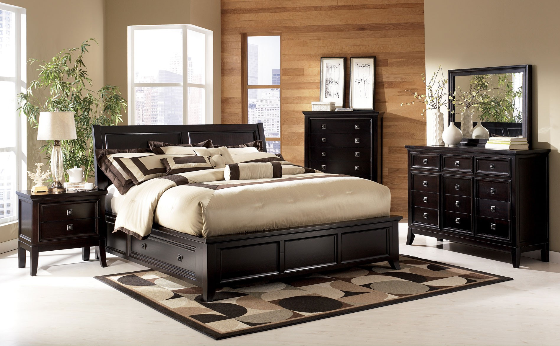 Image of: Ashley Storage Bed Black