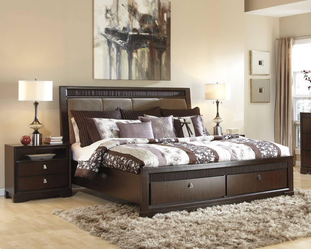 Image of: Ashley Storage Bed Decorating
