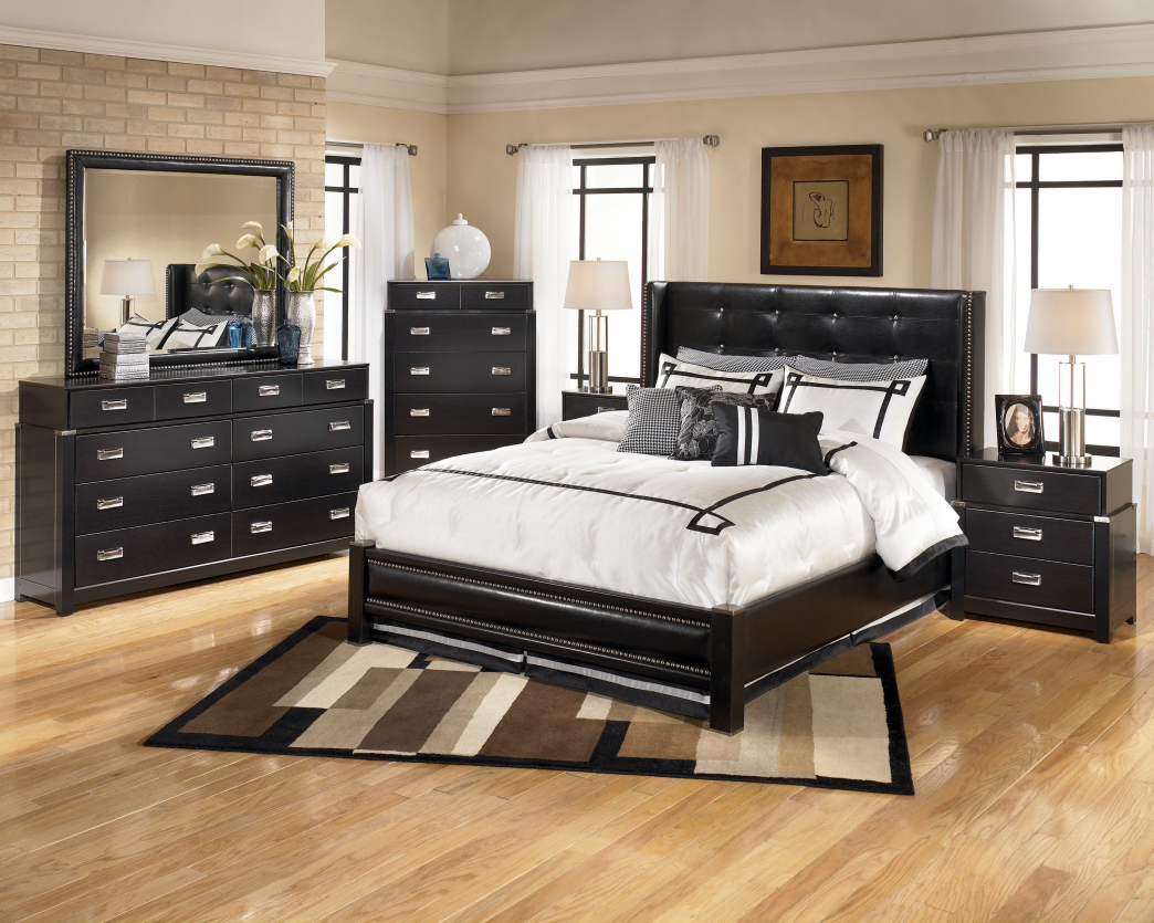Image of: Ashley Storage Bed Leather
