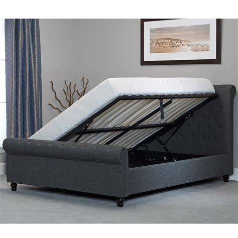 Picture of: Awesome Grey Storage Bed