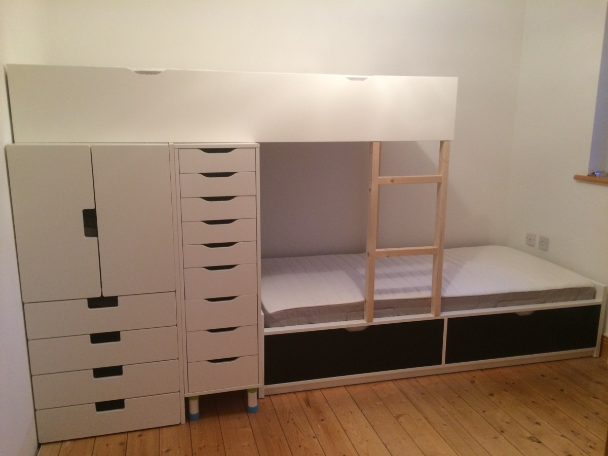 Image of: Awesome Ikea Hack Storage Bed