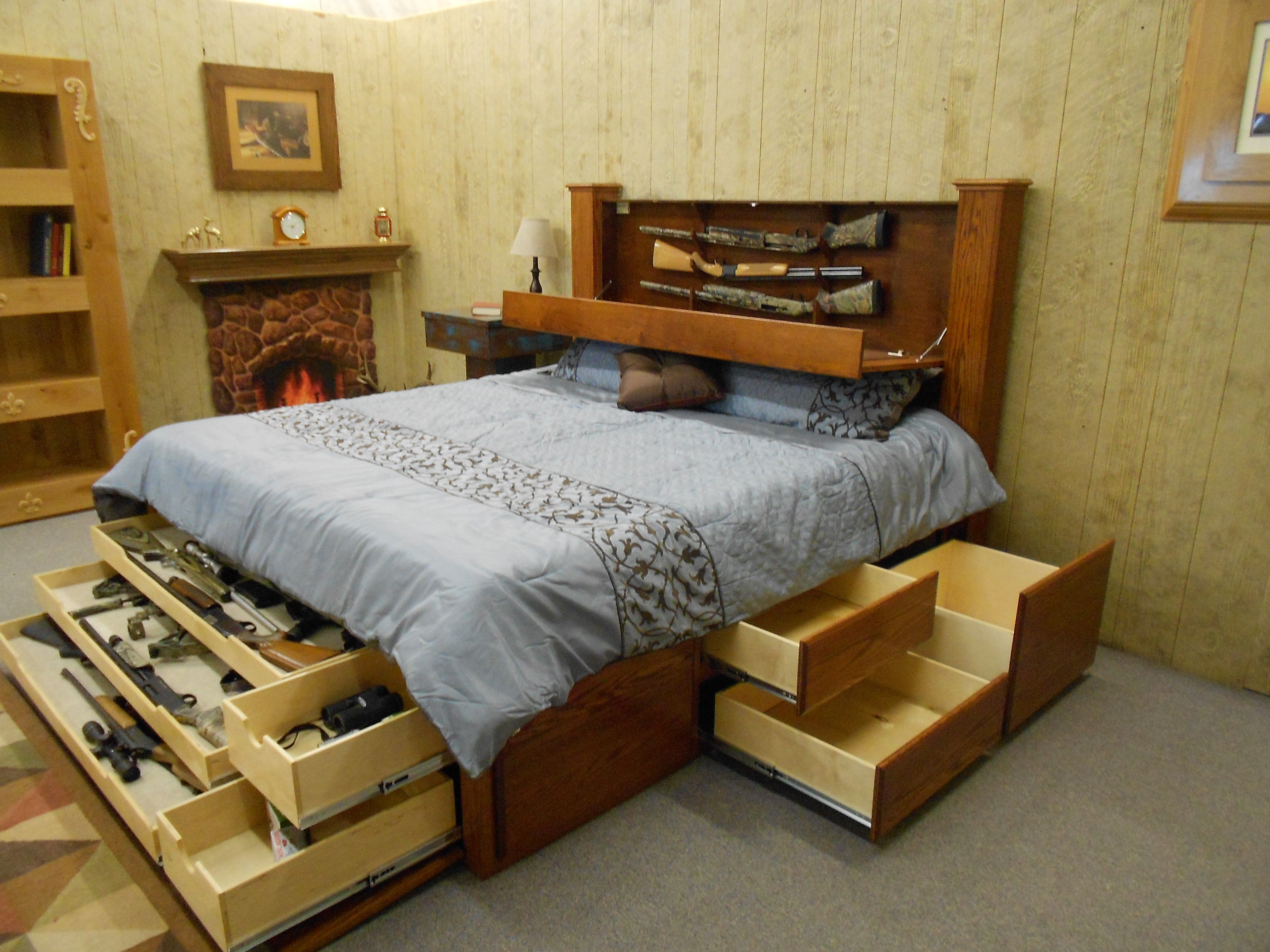 Picture of: Beca Full Size Beds With Storage