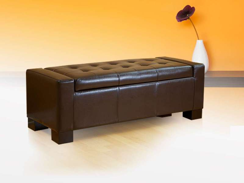 Picture of: Bed Storage Ottoman Bench