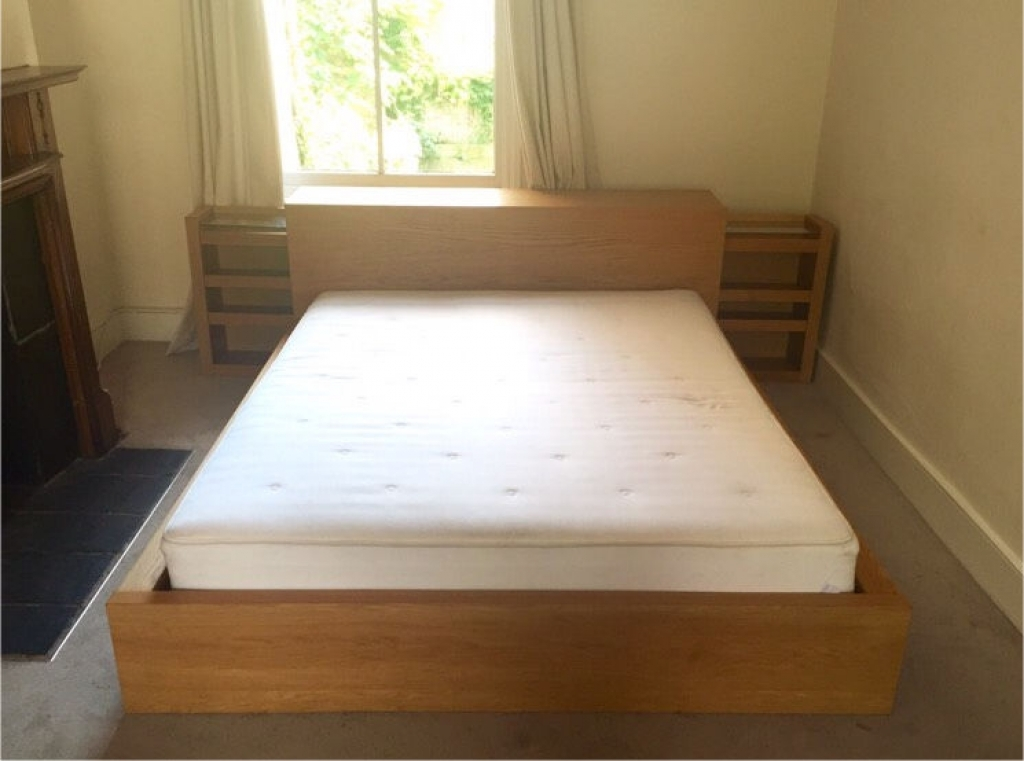 Bed With Headboard Storage Platform
