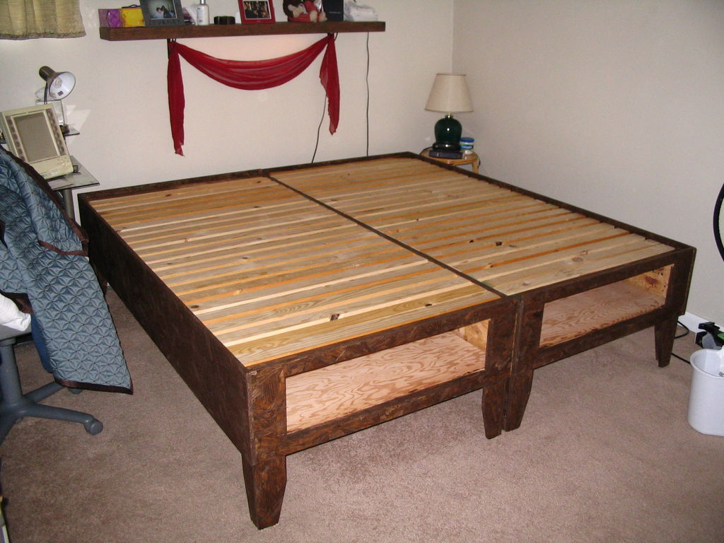 Picture of: Best DIY Bed Frame with Storage