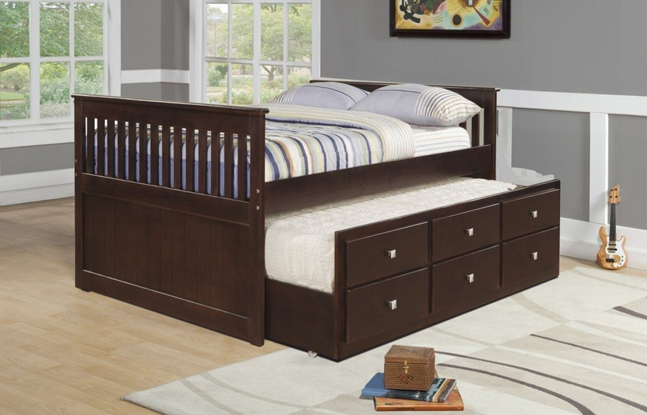Image of: Best Full Size Captains Bed With Storage