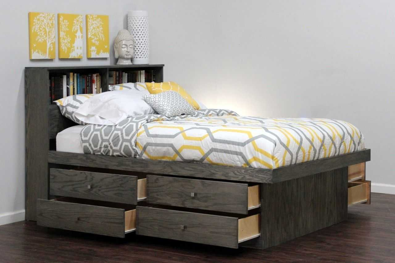 Image of: Best Storage Beds Gray