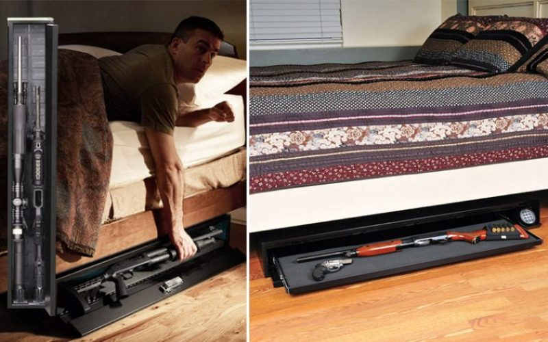 Image of: Best Under Bed Gun Safe Storage