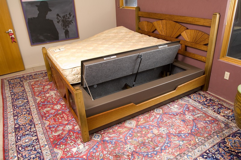 Image of: Best Under Bed Gun Storage