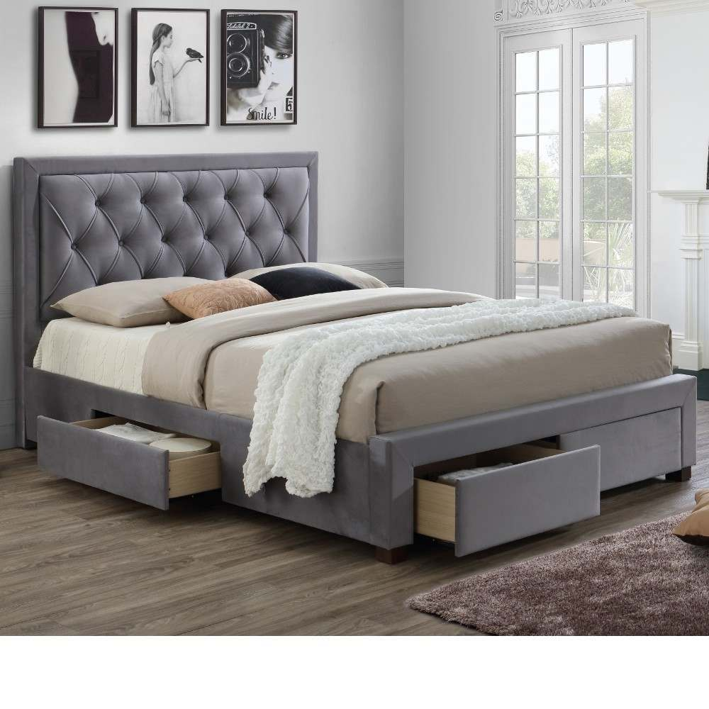 Picture of: Big Grey Storage Bed