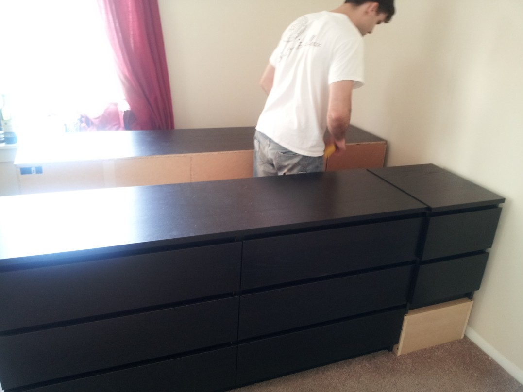 Picture of: Black Ikea Hack Storage Bed
