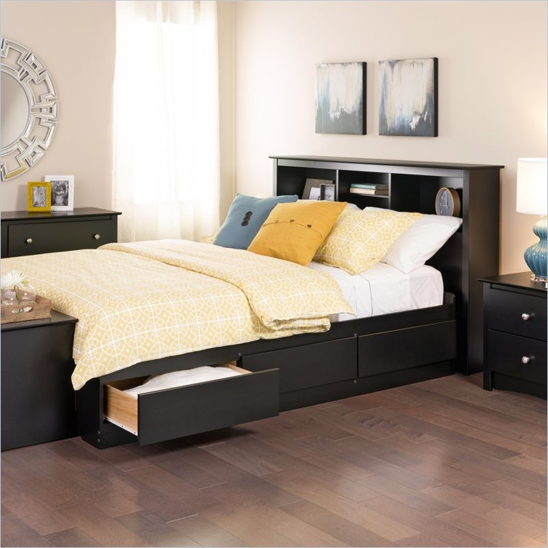 Image of: Black King Beds with Storage